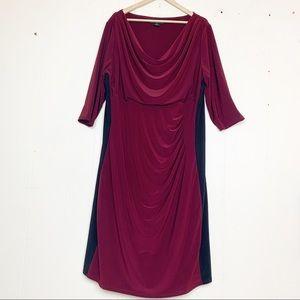 Lauren Ralph Lauren color block drape front ruched